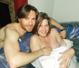 The Bradley Method Birth Family in Tub